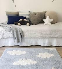 lorena cs kids room vintage style rug clouds grey