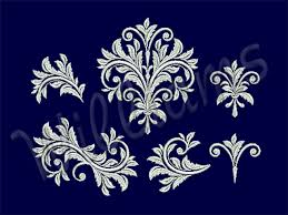 Machine Embroidery Patterns Custom Baroque Machine Embroidery Set Enembgallery