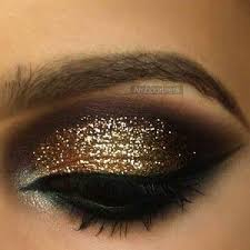 black dress prom makeup for hazel eyes and a pink with silver strip dress google search