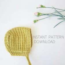 Baby Bonnet Knitting Pattern Amazing Inspiration Ideas