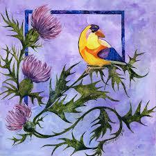 bird painting yellow bird by sherry shipley