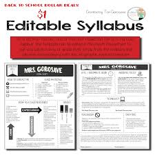 Editable Syllabus [Infographic]   Class syllabus, Infographic and ...
