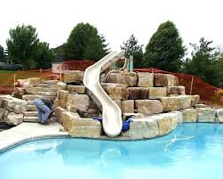 inground pools with waterslides. Wonderful With Water Slide For Inground Pool Installation Inflatable  Slides Park Swimming To Inground Pools With Waterslides O