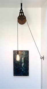 Diy Kit For Antique Cast Iron Wood Pulley Lamp Vintage Etsy