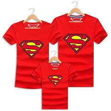 2016 Family Matching <b>Clothes Parent</b> Kid Look <b>Superman</b> T Shirts ...