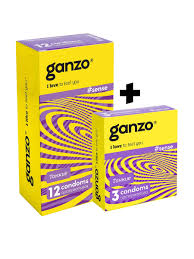 <b>Презервативы GANZO</b> SENSE, комплект 1+1 (Спайка пачка 12 + ...