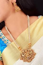 Laxmi Pearls Designs Pearl Collection Designer Laxmi Pendant Set Free Express Delivery Psn07 622 1166n