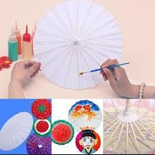 2019 paper parasols chinese japanese umbrella radius 20cm wedding umbrellas diy painting paper traditional parasol sun umbrella for kids from crazy fans
