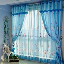 bedroom curtain designs.  Curtain Sheer Blue Curtain Design With Cartoon Characters Intended Bedroom Designs R