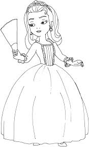 Sofia Coloring Pages Princess Sofia The First Coloring Pages Art