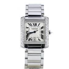 second hand cartier watches preowned cartier watches cartier tank francaise auto d set