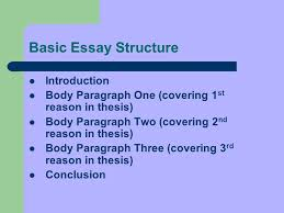 please prepare for notes date and title in your english notebook  2 basic essay structure introduction body paragraph one covering 1 st reason in thesis body paragraph two covering 2 nd reason in thesis body paragraph