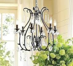 crystal chandelier rustic wood and