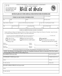 Bill Of Sales Generic Impressive 48 Standard Car Bill Of Sale Proposal Spreadsheet