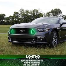 2017 Mustang Lights 2015 2017 Ford Mustang Gt Drl Waterproof Grill Lighting Kit Rgbw A Flow Series