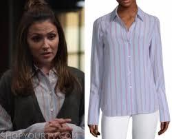 Designated Survivor: Season 3 Episode 4 Emily's Blue Striped Blouse   Shop  Your TV