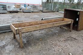 lot 1796 11ft wooden cattle feed trough