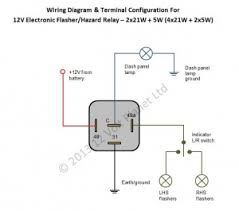 12v electronic flasher hazard relay 21wx2 5w 12 volt planet 12v Flasher Relay Wiring Diagram 12v Flasher Relay Wiring Diagram #12 Signal Flasher Wiring-Diagram