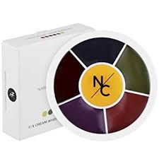 narrative cosmetics bruise wheel for special effects theatrical makeup and 6 color wheel