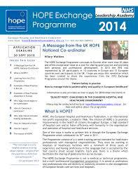 HOPE Exchange Programme