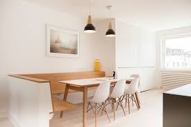 scandinavian design furniture ideas wooden chair. Design Ideas: Wooden Dining Table Banquette And Chairs In White Combined  Seamlessly Scandinavian Design Furniture Ideas Wooden Chair