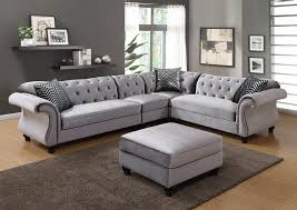 impressive 4 pc jolanda ii collection intended for sectional sofa in with nailhead trim design 22