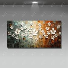 wall art flower painting