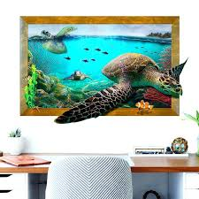 turtle wall decal ocean sea turtle wall stickers for kids room children bedroom wall decals window turtle wall decal
