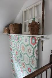 quilt display...great DIY way to create a quilt rack with a shelf ... & quilt display...great DIY way to create a quilt rack with a shelf Adamdwight.com