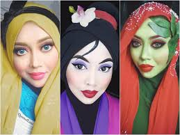 this epic makeup artist recreates disney princesses with her hijab