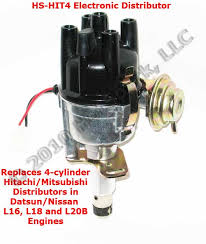 new hs hit4 replacement electronic distributor for vehicles with mitsubishi forklift ignition wiring diagram hot spark hs hit4 4 cylinder hitachi compatible distributor with 3hit4u1 electronic