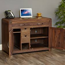 Hideaway desks home office Cabinet Shiro Walnut Hidden Home Office The Wooden Furniture Store Hideaway Computer Desks Home Office Furniture At Wooden Furniture
