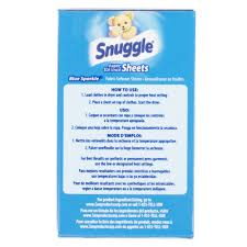 How Much Fabric Softener To Use 2 Count Snuggle Blue Sparkle Dryer Sheet Fabric Softener Box For