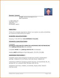 Resume Sample Download In Word Resume Template Simple Format In Word File Intended Sample Resu On