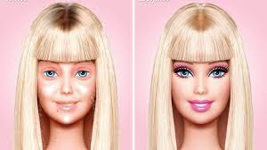 artist imagines barbie without makeup