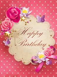 Pink Polka Dots Happy Birthday Card Birthday Greeting Cards By Davia
