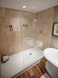half wall shower no door frameless bathtub doors gl block designs