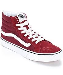 vans shoes red and black high tops. vans sk8-hi slim windsor wine shoes red and black high tops o