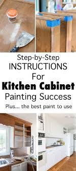 Small Picture Painting Kitchen Cabinets Tips To Ensure Success In My Own Style