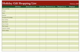 Download Christmas List Excel Template 2318161490099 Grocery List