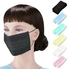 <b>50pcs</b>/pack Black <b>Non Woven Disposable</b> Face Mask Medical ...