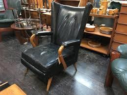 Original 1960s Wingback Armchair by Furpro. Retro Vintage Mid ...
