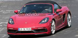 2018 porsche boxster review. contemporary porsche 2018 porsche 718 boxster gts spied with porsche boxster review