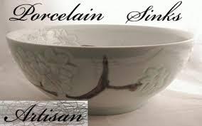 unique vessel sinks. Perfect Vessel Artisan Porcelain Sinks On Unique Vessel Y