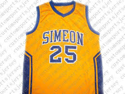 Wilson Basketball Size Chart 2019 Wholesale Ben Wilson 25 Simeon High School New Basketball Jersey Yellow Stitched Custom Any Number Name Men Women Youth Basketball Jerseys From