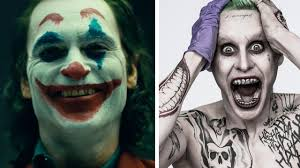 a diptych of two jokers from the batman series