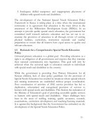special needs education policy framework   23