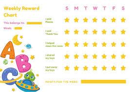 Alien Chart Colorful Outer Space Alien Behaviour Reward Chart