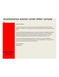 Maintenance Cover Letter Maintenance Cover Letter Sample Kardasklmphotographyco 17
