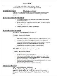 medical assistant resume sample resumeliftcom resume engaging sample resume objectives for medical assistant